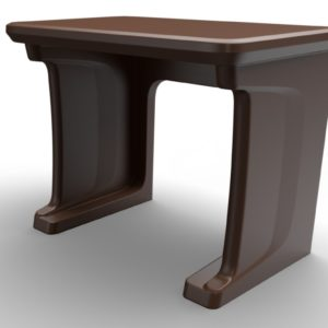 Endurance Floor Mounted Desk Brown