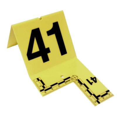 Cutout Evidence Tent Marking Set 41-60