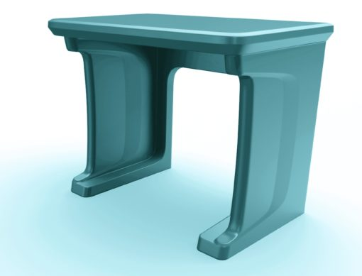 Endurance Floor Mounted Desk Blue Gray